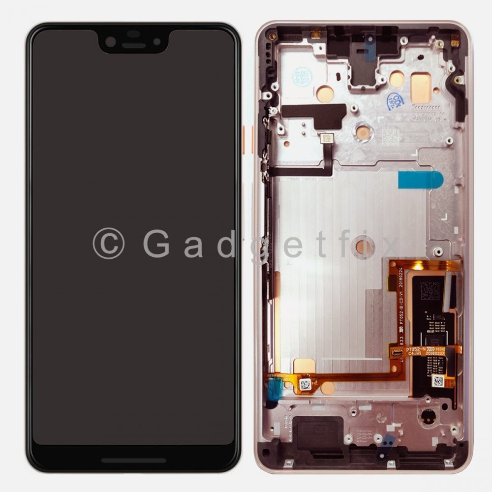 Pink OLED Display LCD Touch Screen Digitizer + Frame For Google Pixel 3 XL