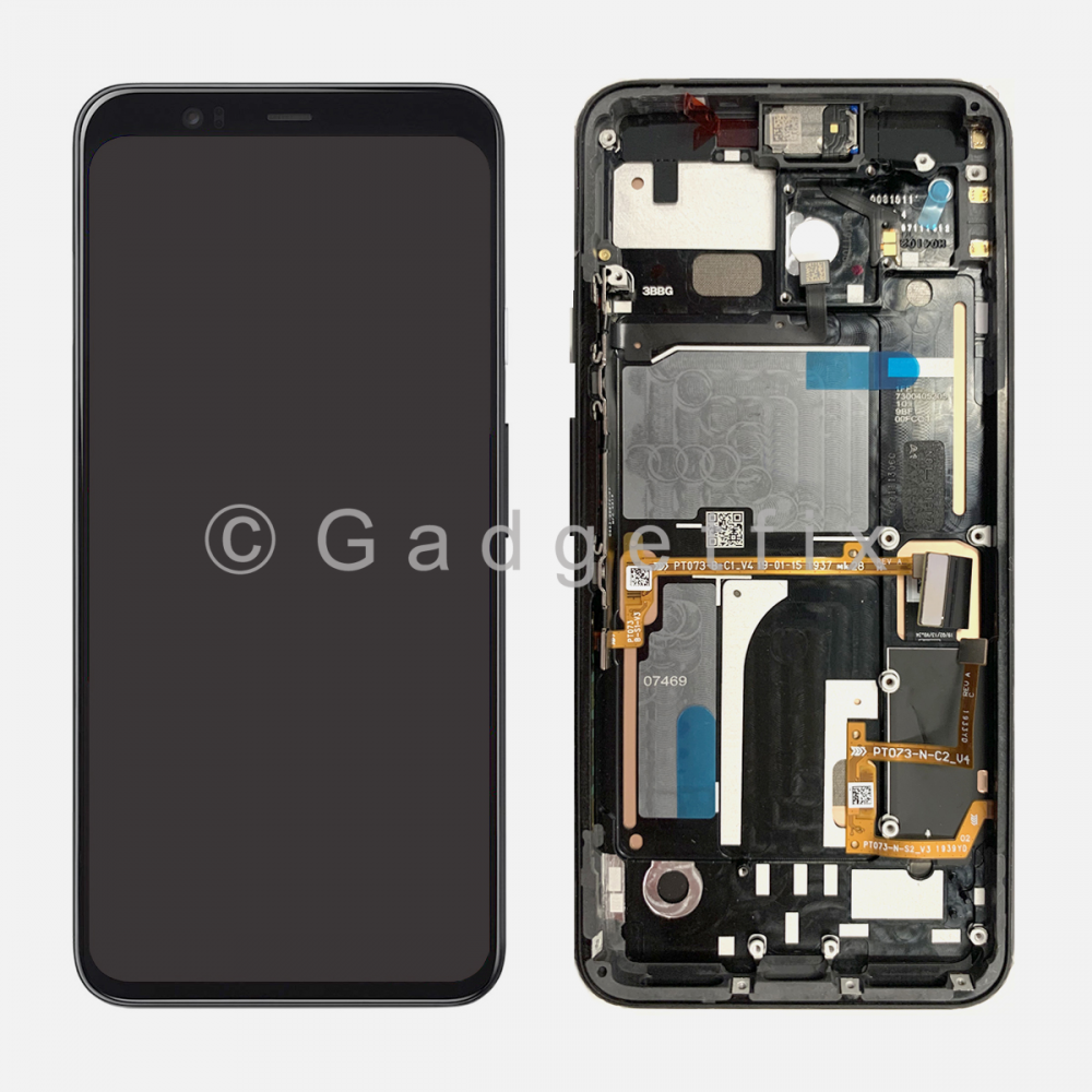 OLED Display LCD Touch Screen Digitizer + Frame For Google Pixel 4