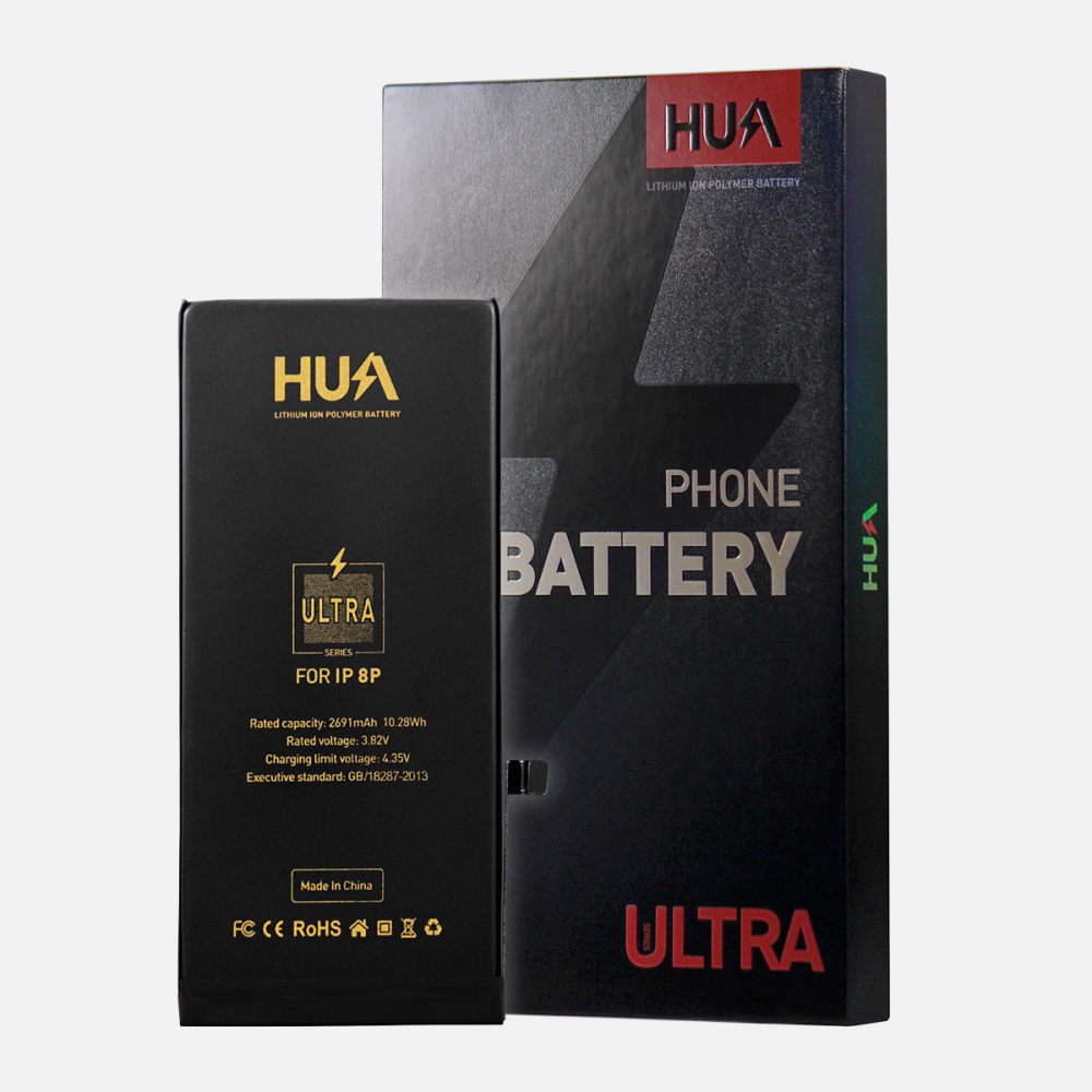HUA Lithium Ion Polymer Ultra Quality Replacement Battery for iPhone 8 Plus