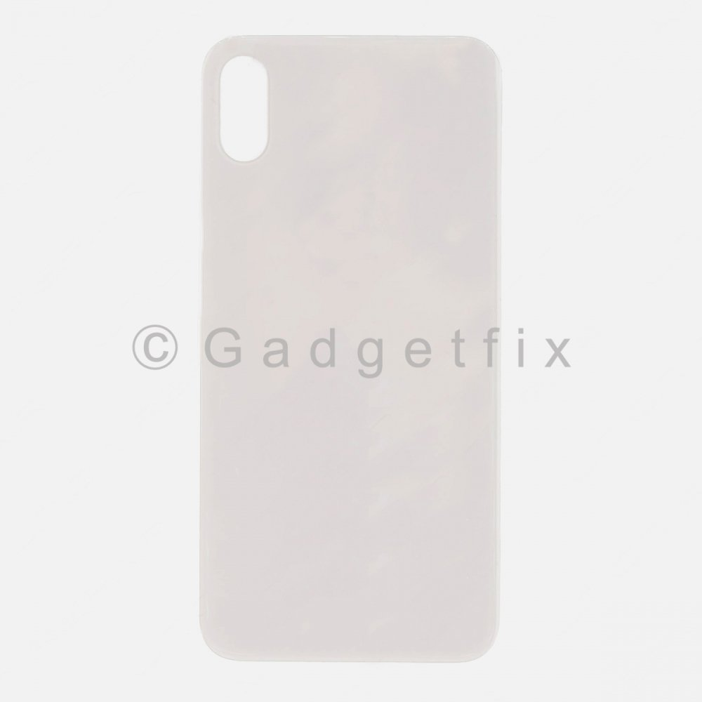 Silver Rear Back Cover Battery Door Glass For Iphone X