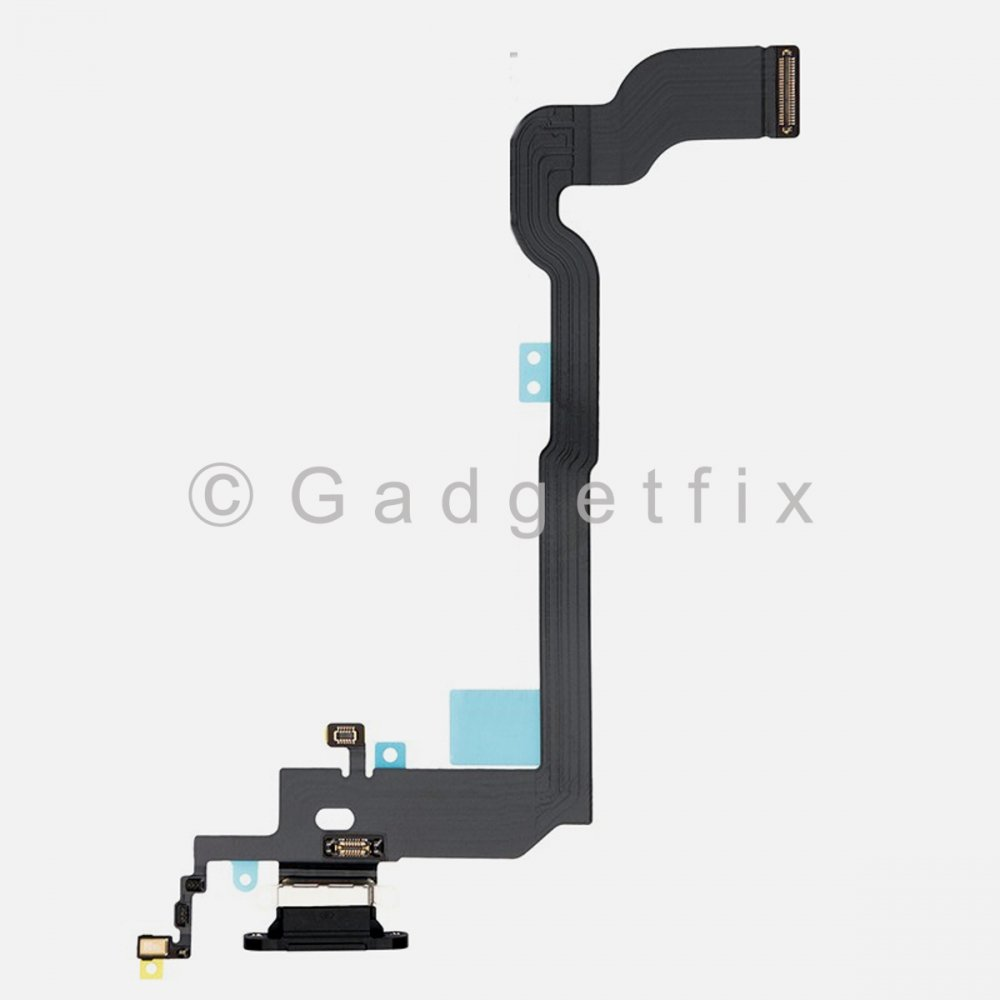 Gray Lightning Charger Charging Port Dock Connector Flex Cable + Mic For Iphone X 10