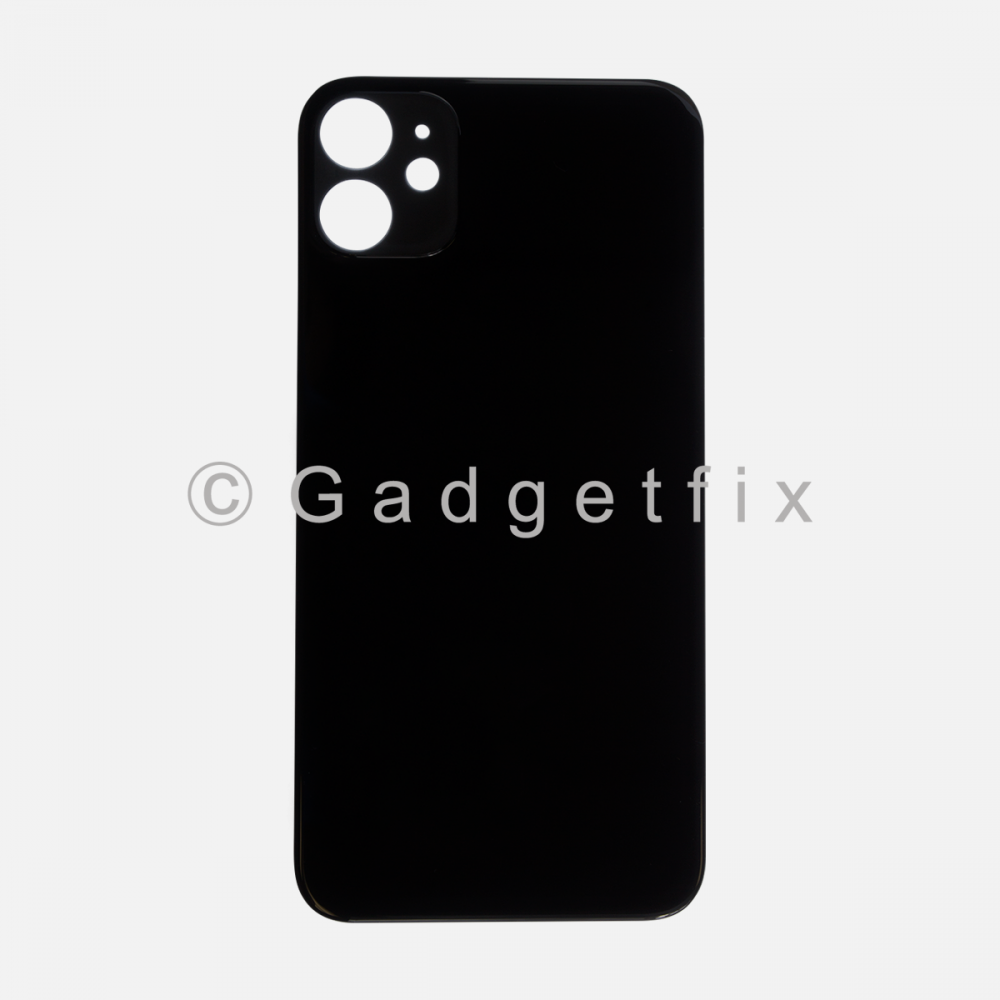 Black Rear Back Cover Battery Door Glass For Iphone 11 (Large Camera Hole)