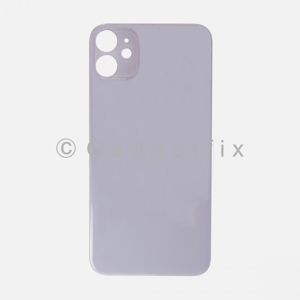 Purple Rear Back Cover Battery Door Glass For Iphone 11 (Large Camera Hole)
