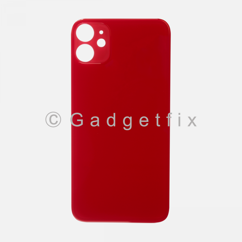 Red Rear Back Cover Battery Door Glass For Iphone 11 (Large Camera Hole)