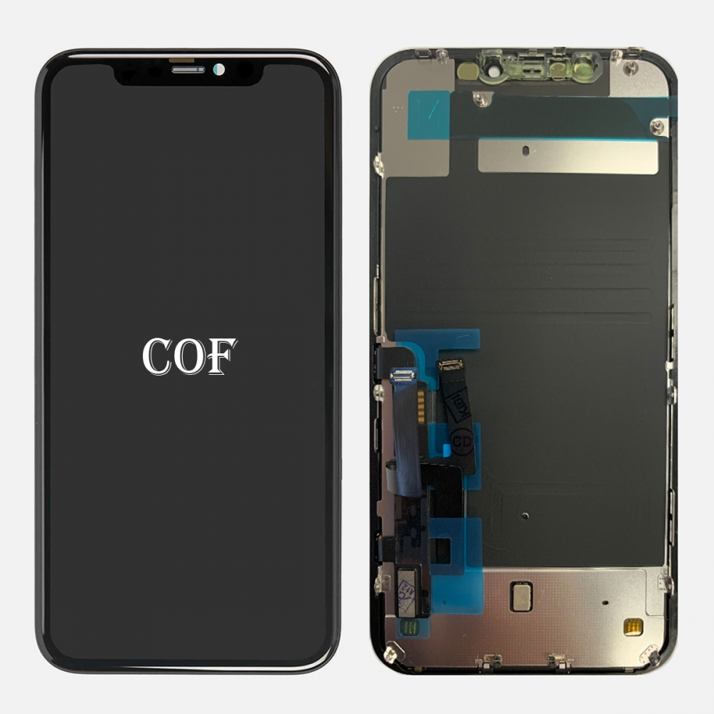 Retina COF LCD Display Touch Screen Digitizer + Back Plate For Iphone 11 (ZY Factory)