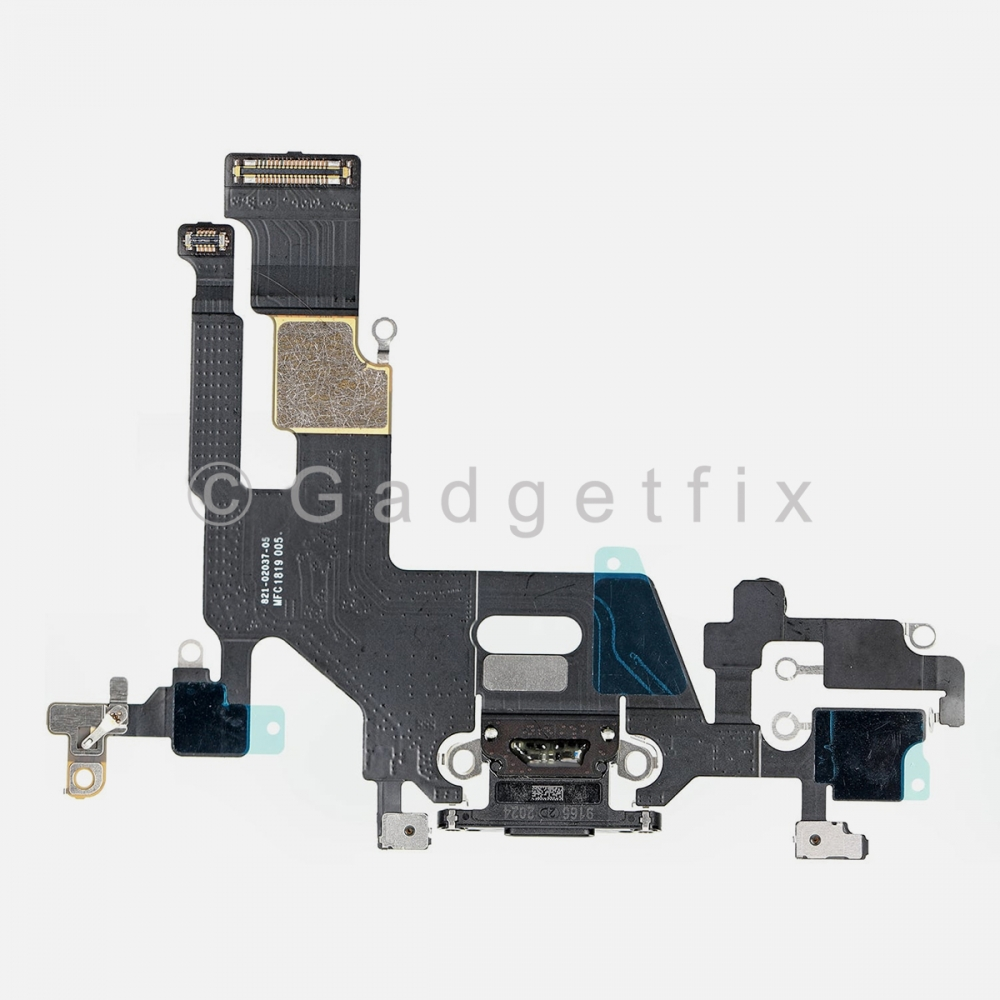 Black Lightning Charger Charging Port Dock Connector Flex Cable For Iphone 11