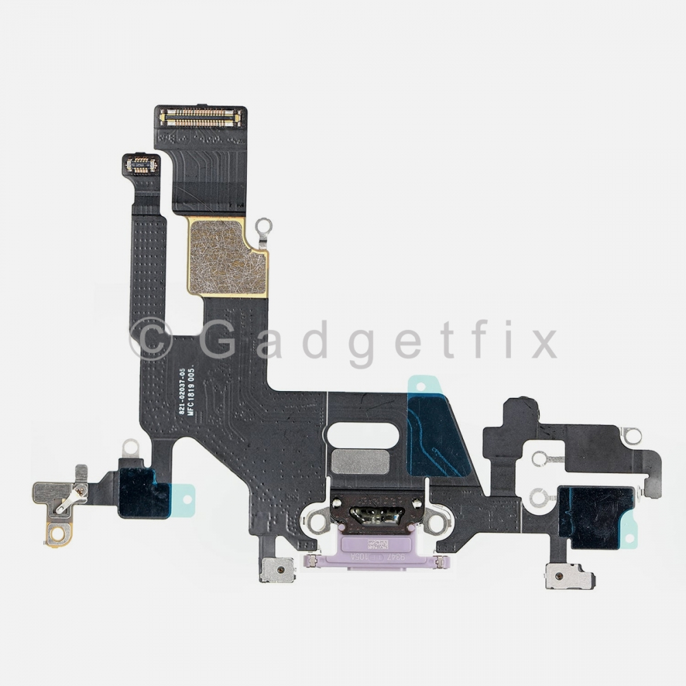 Purple Lightning Charger Charging Port Dock Connector Flex Cable For Iphone 11