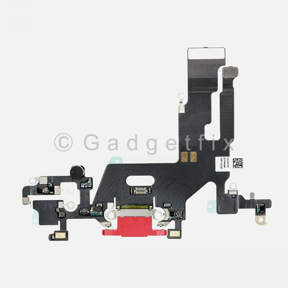 Red Lightning Charger Charging Port Dock Connector Flex Cable For Iphone 11