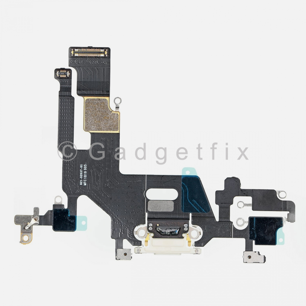 White Lightning Charger Charging Port Dock Connector Flex Cable For Iphone 11