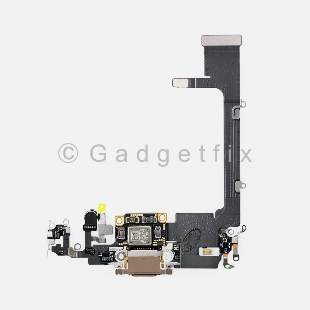 Gold Lightning Charging Port Flex Cable w/ Daughter Board For Iphone 11 Pro