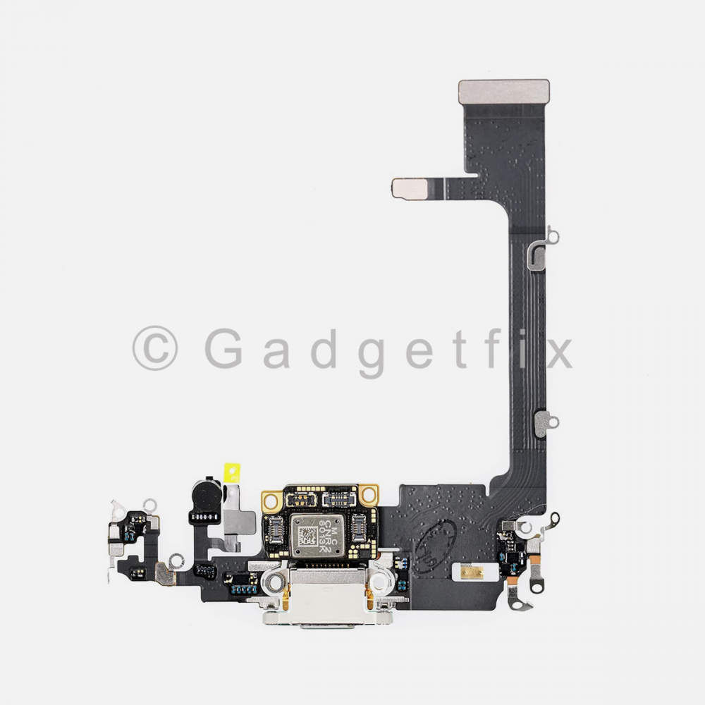 Silver Lightning Charging Port Flex Cable w/ Daughter Board For Iphone 11 Pro