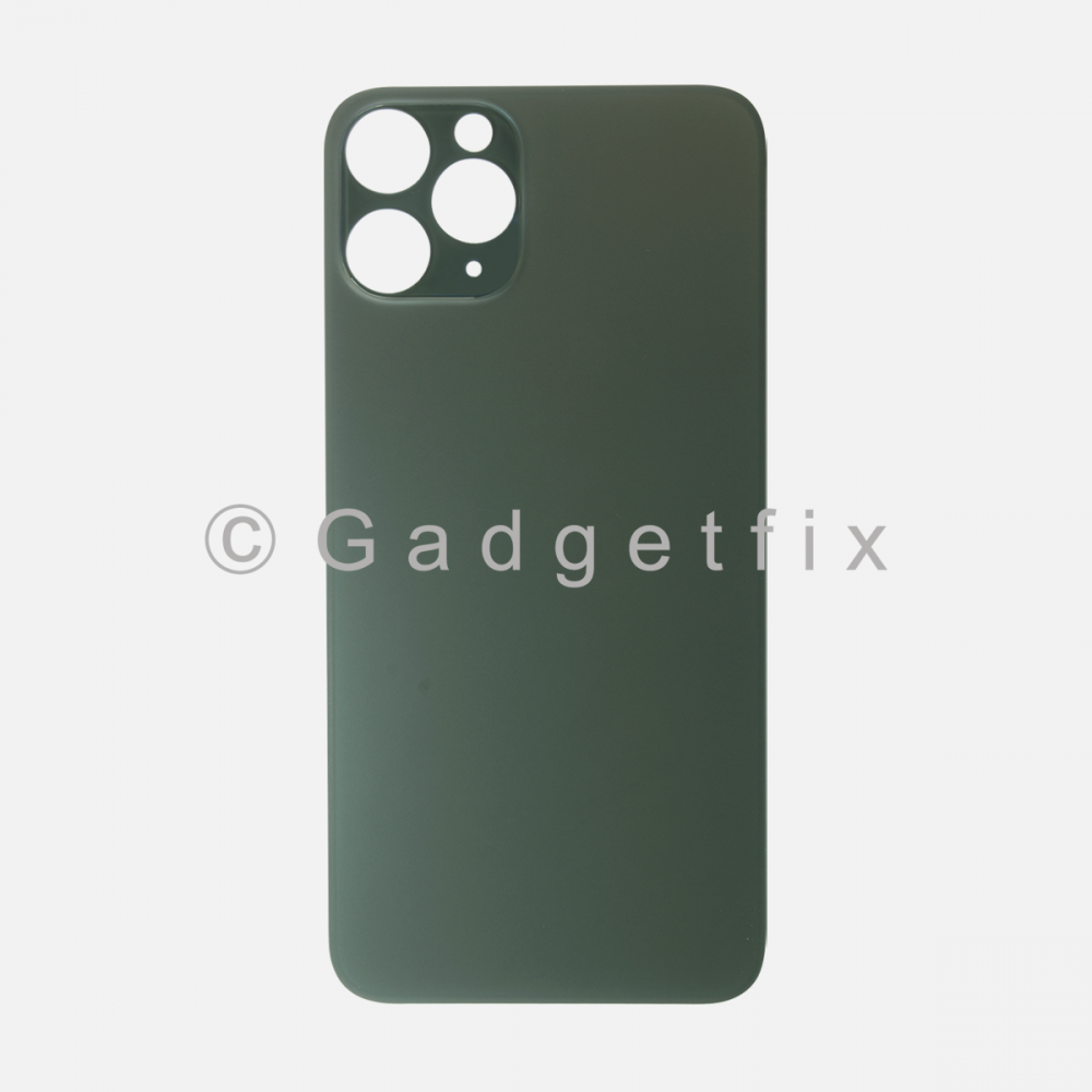 Midnight Green Rear Back Cover Battery Door Glass For Iphone 11 Pro Max (Large Camera Hole)