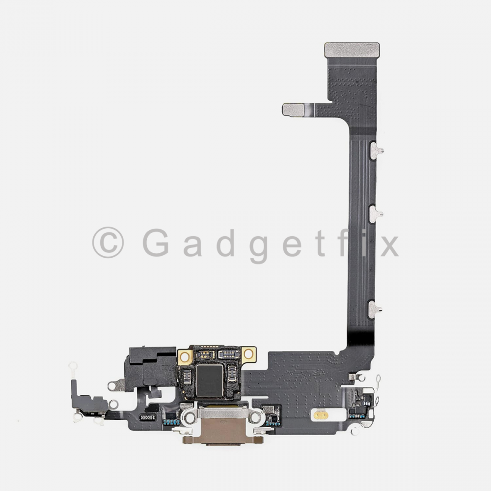 Gold Lightning Charging Port Flex Cable w/ Daughter Board For Iphone 11 Pro Max