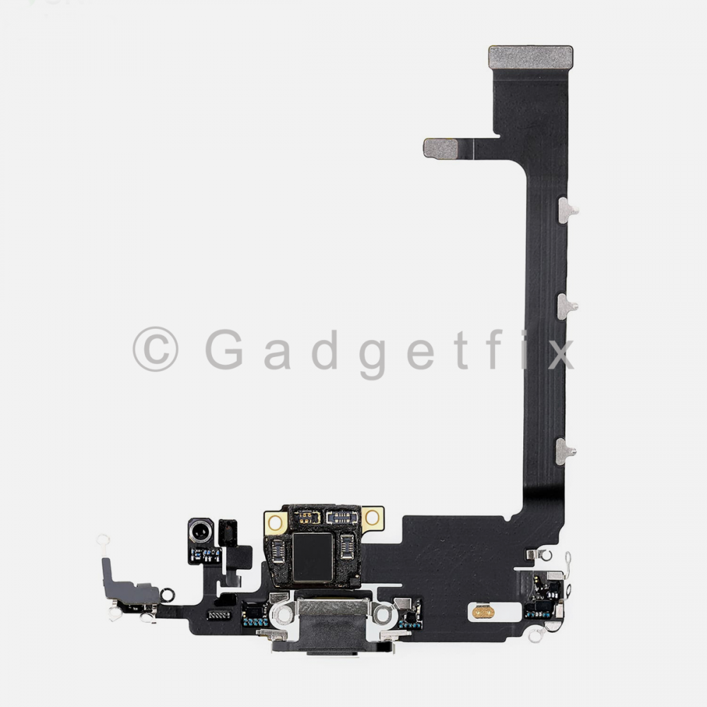 Gray Lightning Charging Port Flex Cable w/ Daughter Board For Iphone 11 Pro Max