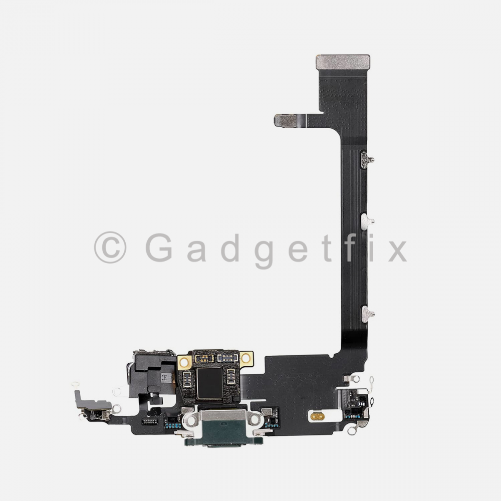 Green Lightning Charging Port Flex Cable w/ Daughter Board For Iphone 11 Pro Max