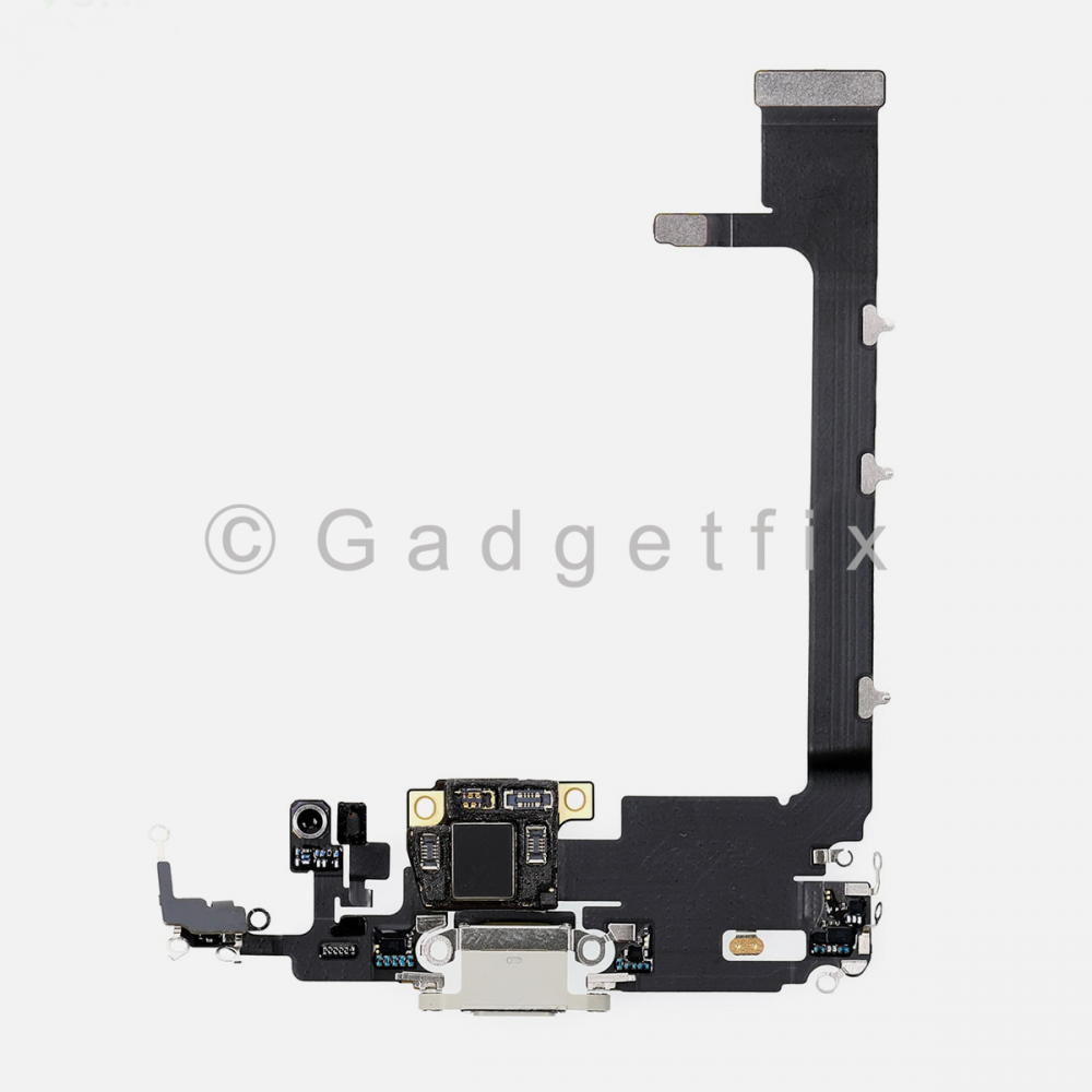 Silver Lightning Charging Port Flex Cable w/ Daughter Board For Iphone 11 Pro Max