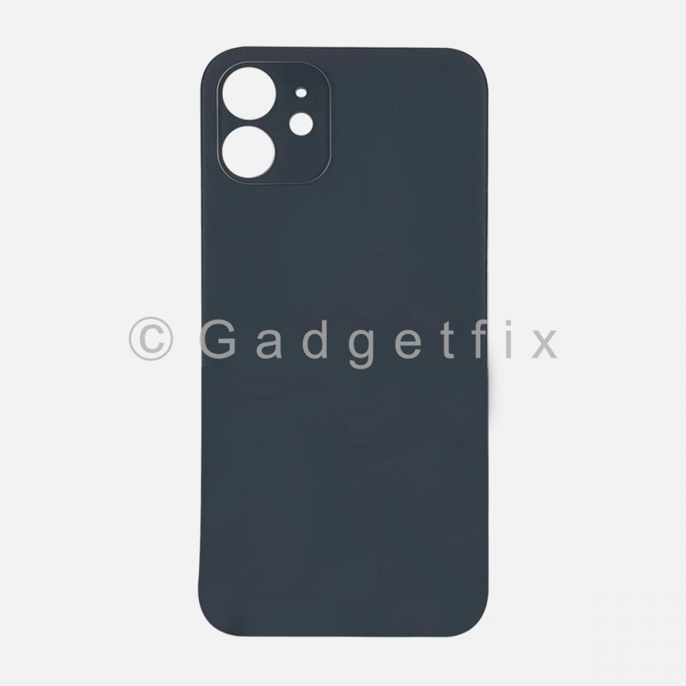 Black Back Cover Glass for iPhone 12 with Large Camera Hole