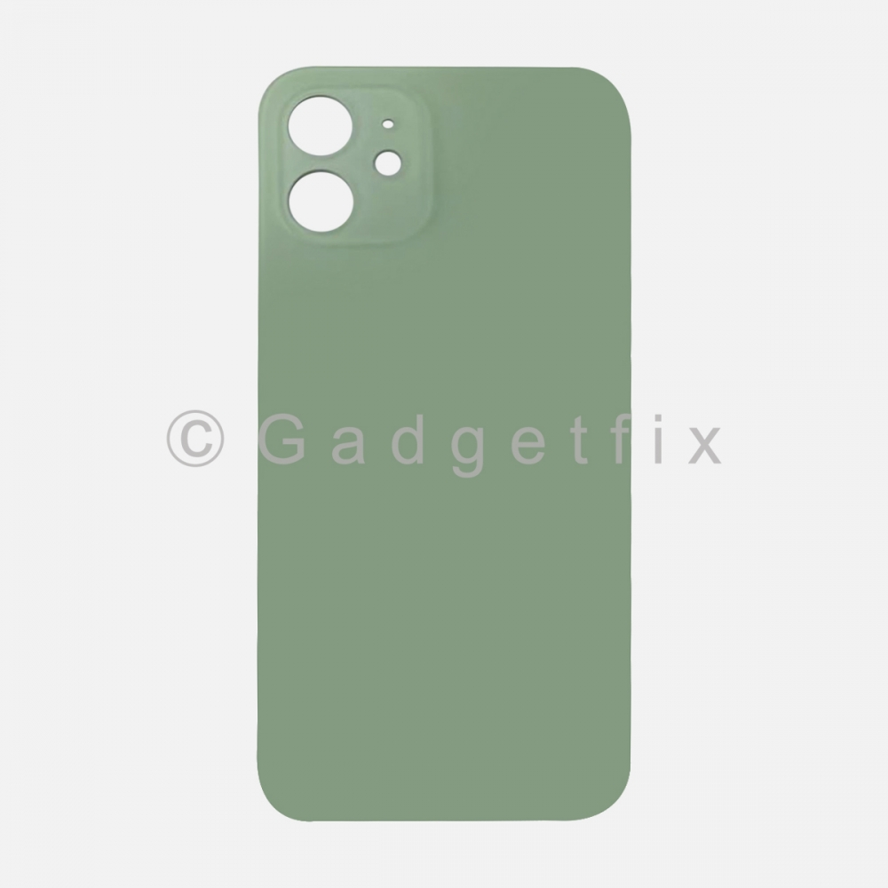 Green Back Cover Glass for iPhone 12 with Large Camera Hole