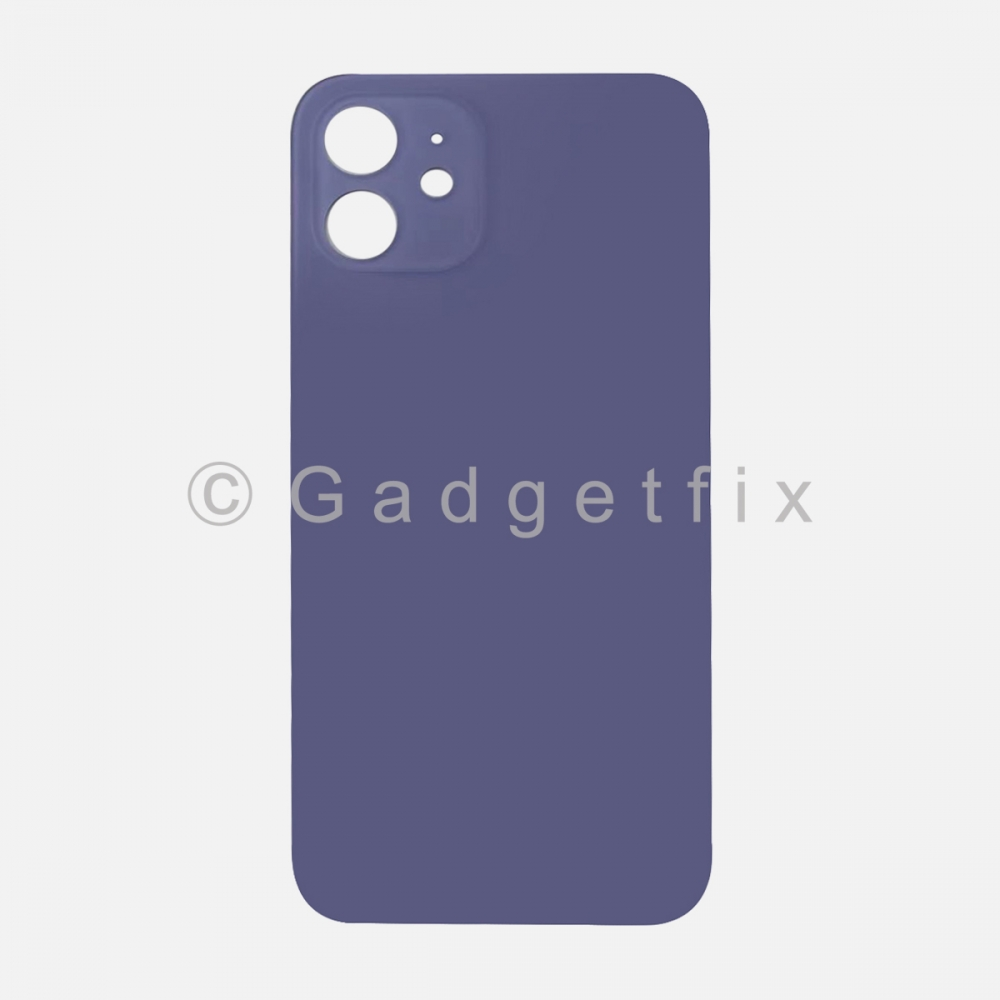 Purple Back Cover Glass for iPhone 12 with Large Camera Hole