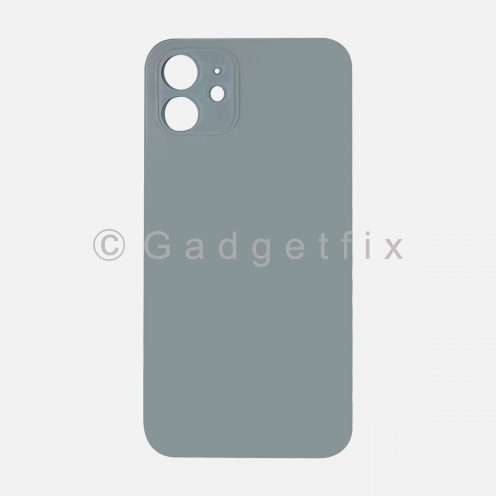 White Back Cover Glass for iPhone 12 with Large Camera Hole