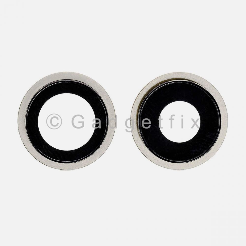 White Back Camera Lens w/ Bracket For Iphone 12 Mini | Iphone 12