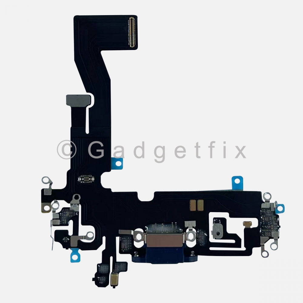 Blue Lightning Charger Charging Port Dock Connector Flex Cable For Iphone 12