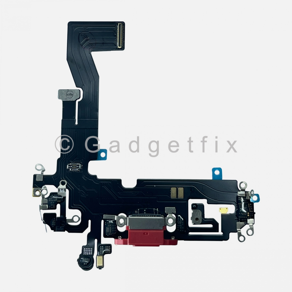 Red Lightning Charger Charging Port Dock Connector Flex Cable For Iphone 12
