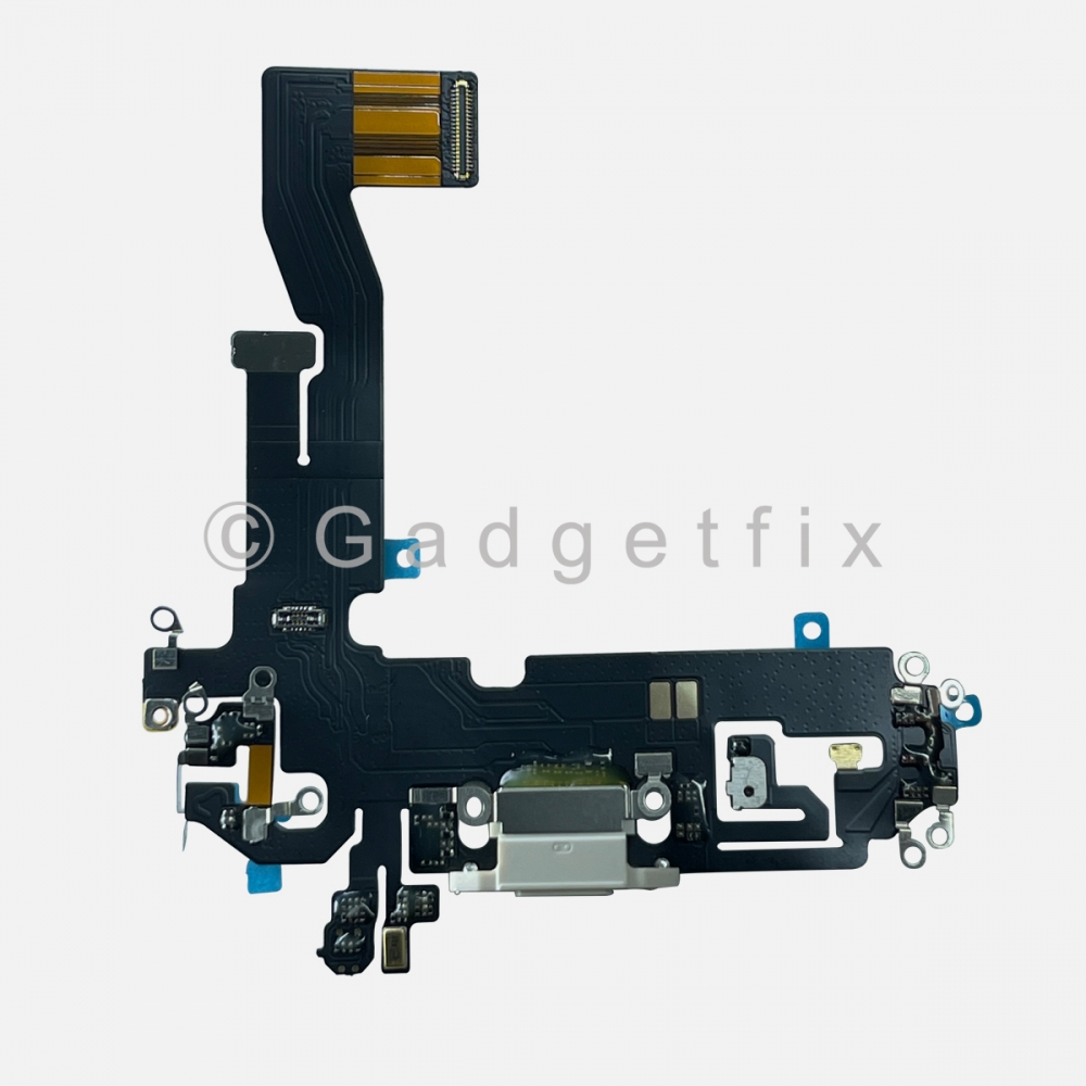 White Lightning Charger Charging Port Dock Connector Flex Cable For Iphone 12