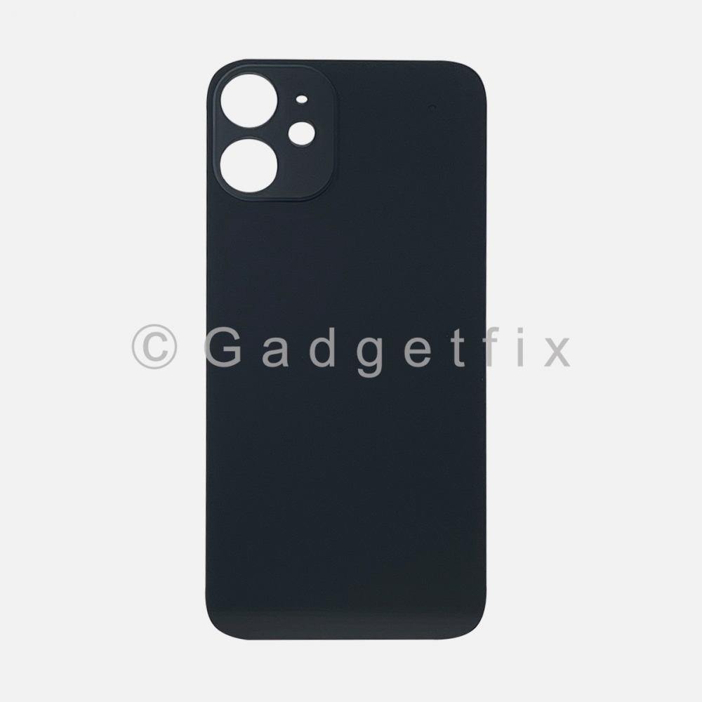 Black Back Cover Glass for iPhone 12 MINI with Large Camera Hole