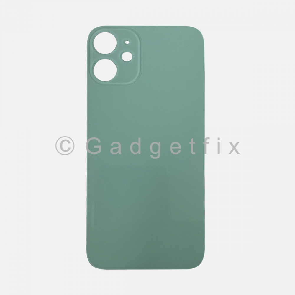Green Back Cover Glass for iPhone 12 MINI with Large Camera Hole