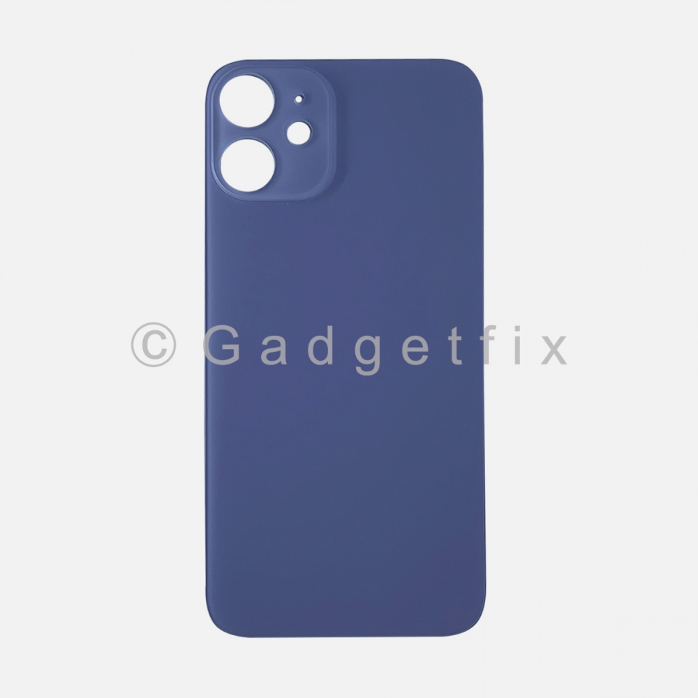 Purple Back Cover Glass for iPhone 12 MINI with Large Camera Hole