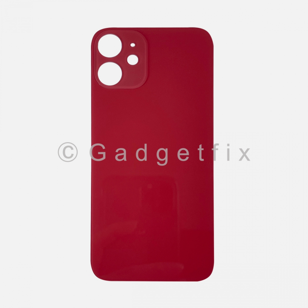Red Back Cover Glass for iPhone 12 MINI with Large Camera Hole