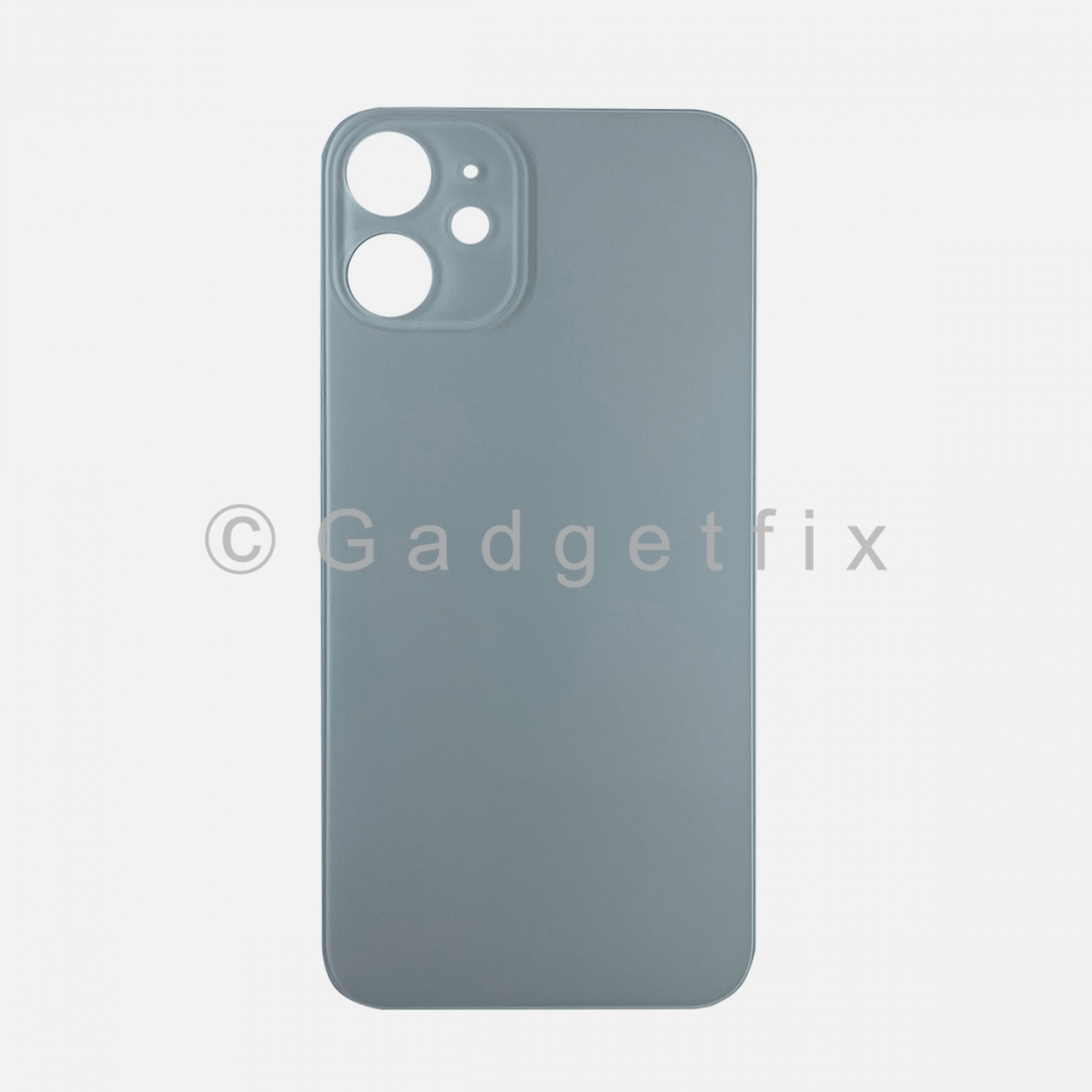 White Back Cover Glass for iPhone 12 MINI with Large Camera Hole