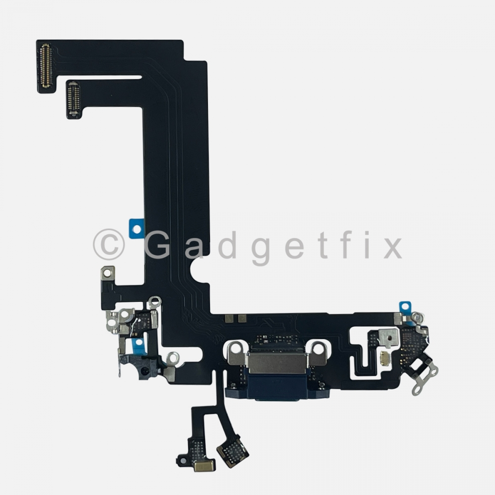Blue Charging Port Dock Connector Flex Cable Charger  For Iphone 12 Mini