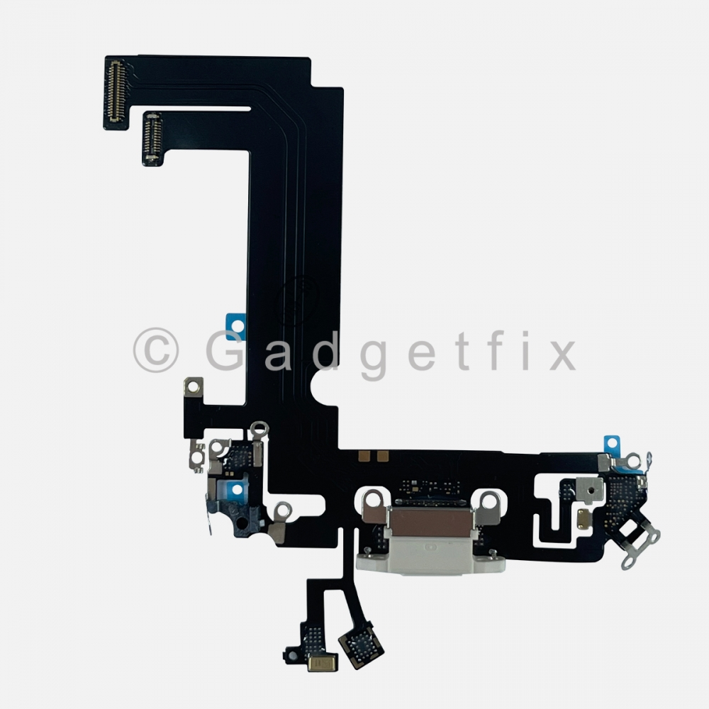 White Charging Port Dock Connector Flex Cable Charger  For Iphone 12 Mini