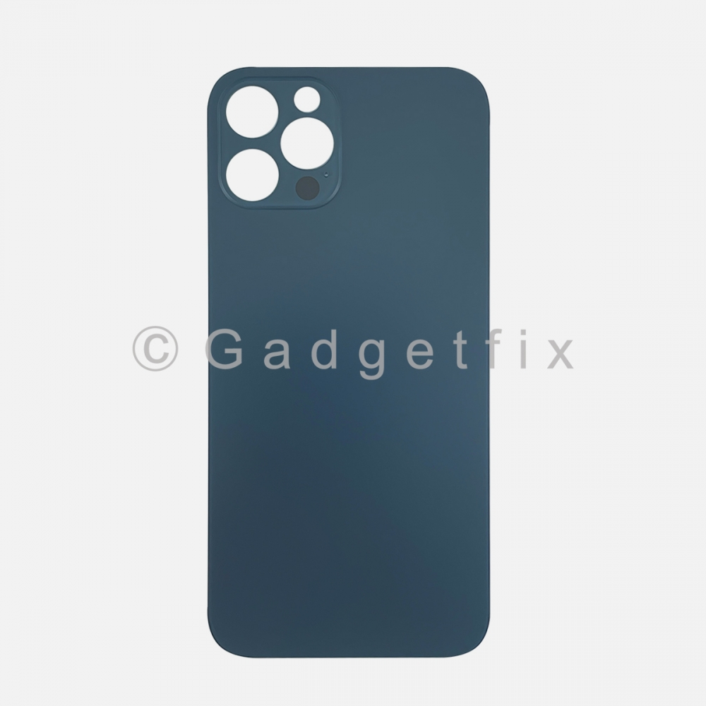 Pacific Blue Back Cover Glass for iPhone 12 PRO with Large Camera Hole