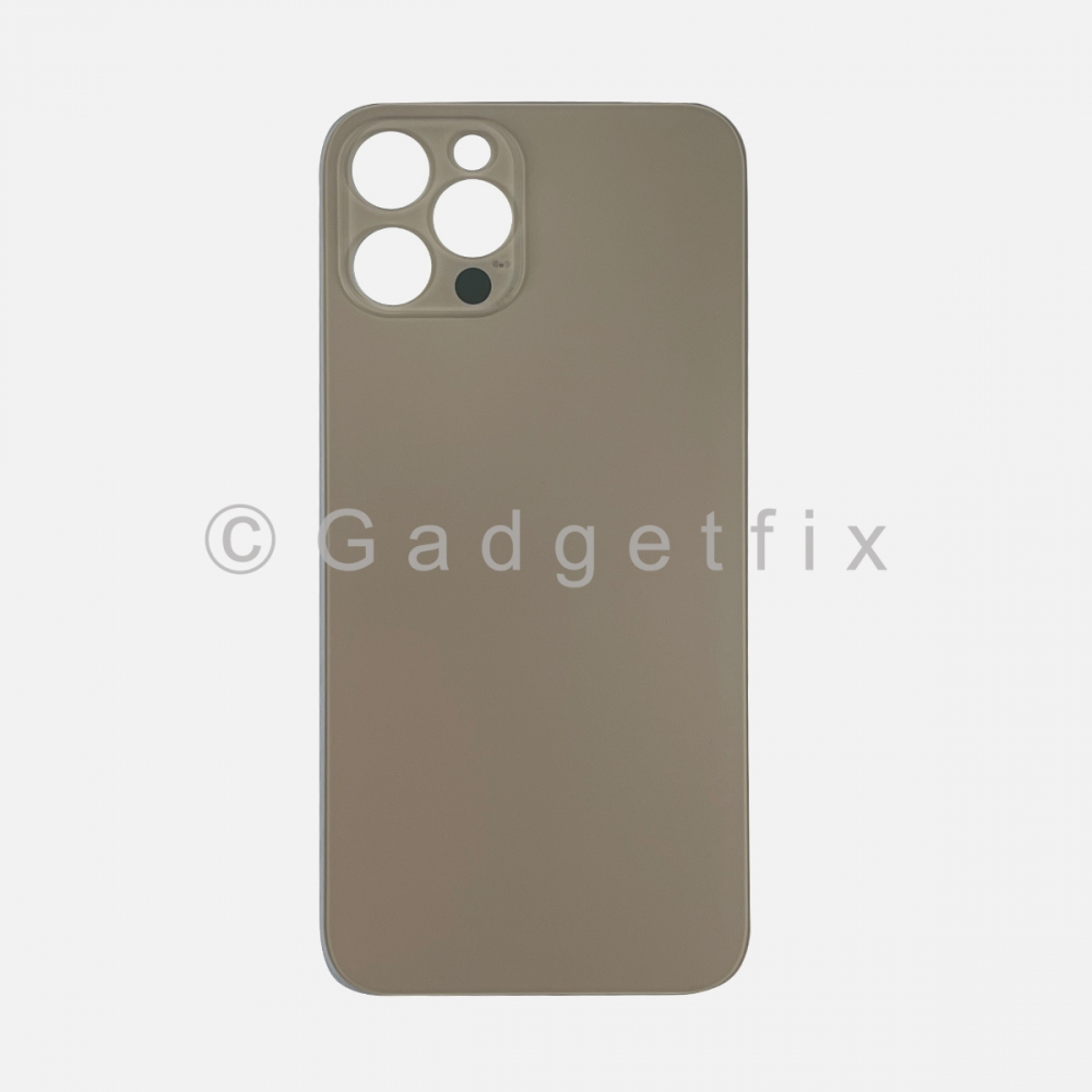Gold Back Cover Glass for iPhone 12 PRO with Large Camera Hole