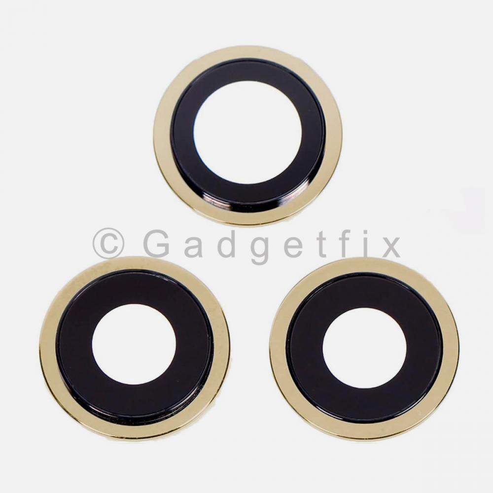 Gold Back Camera Lens w/ Bracket For Iphone 12 Pro