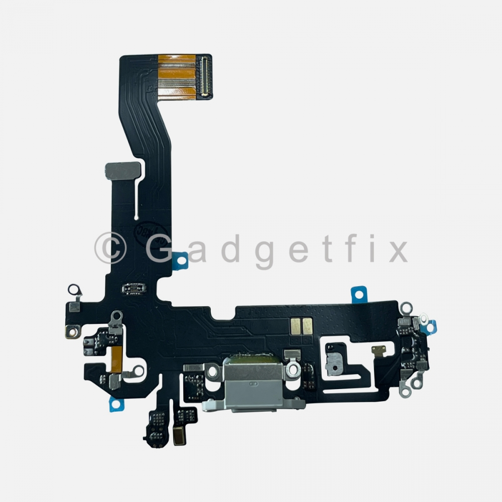 Silver Lightning Charger Charging Port Dock Connector Flex Cable For iPhone 12 PRO