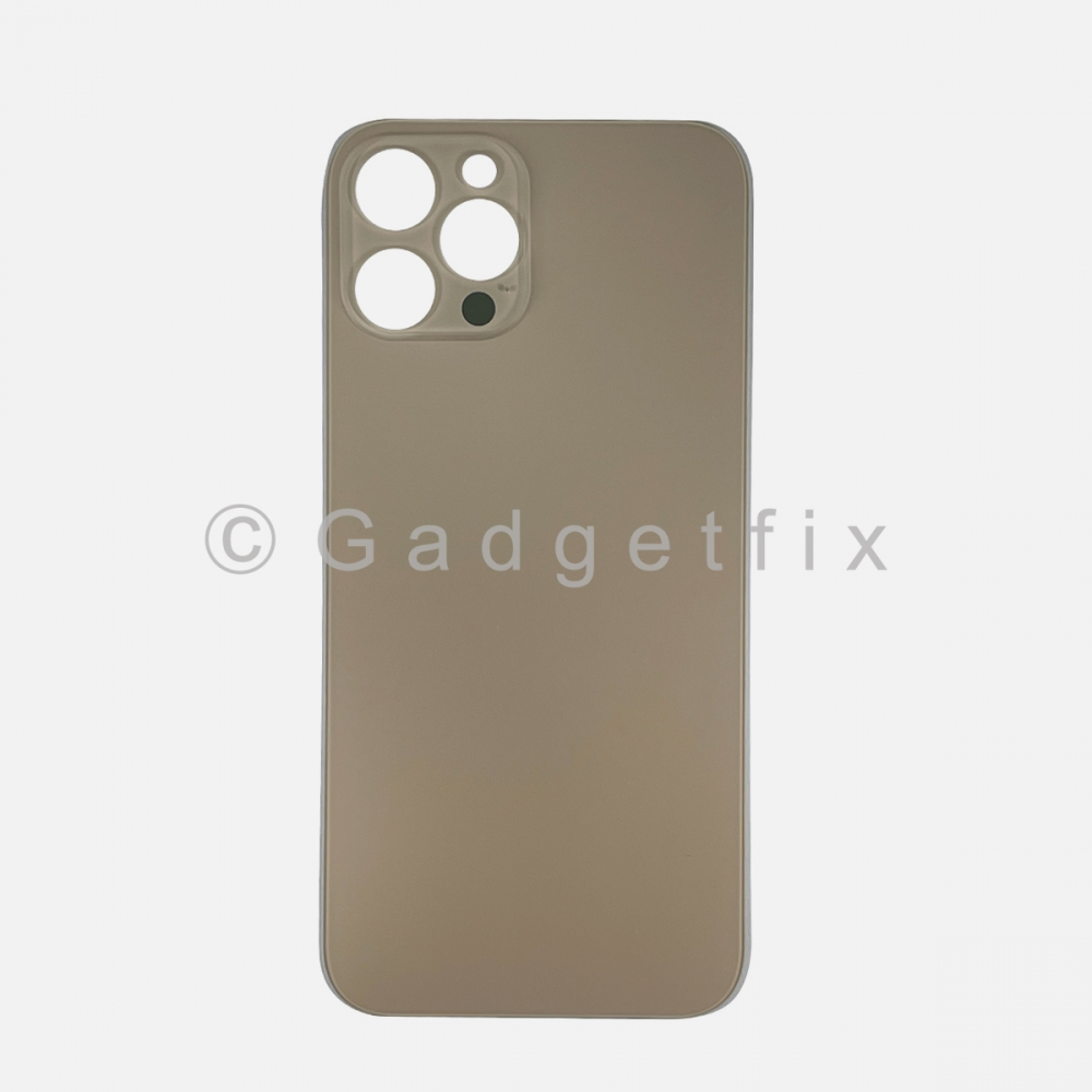 Gold Back Cover Glass for iPhone 12 PRO MAX with Large Camera Hole