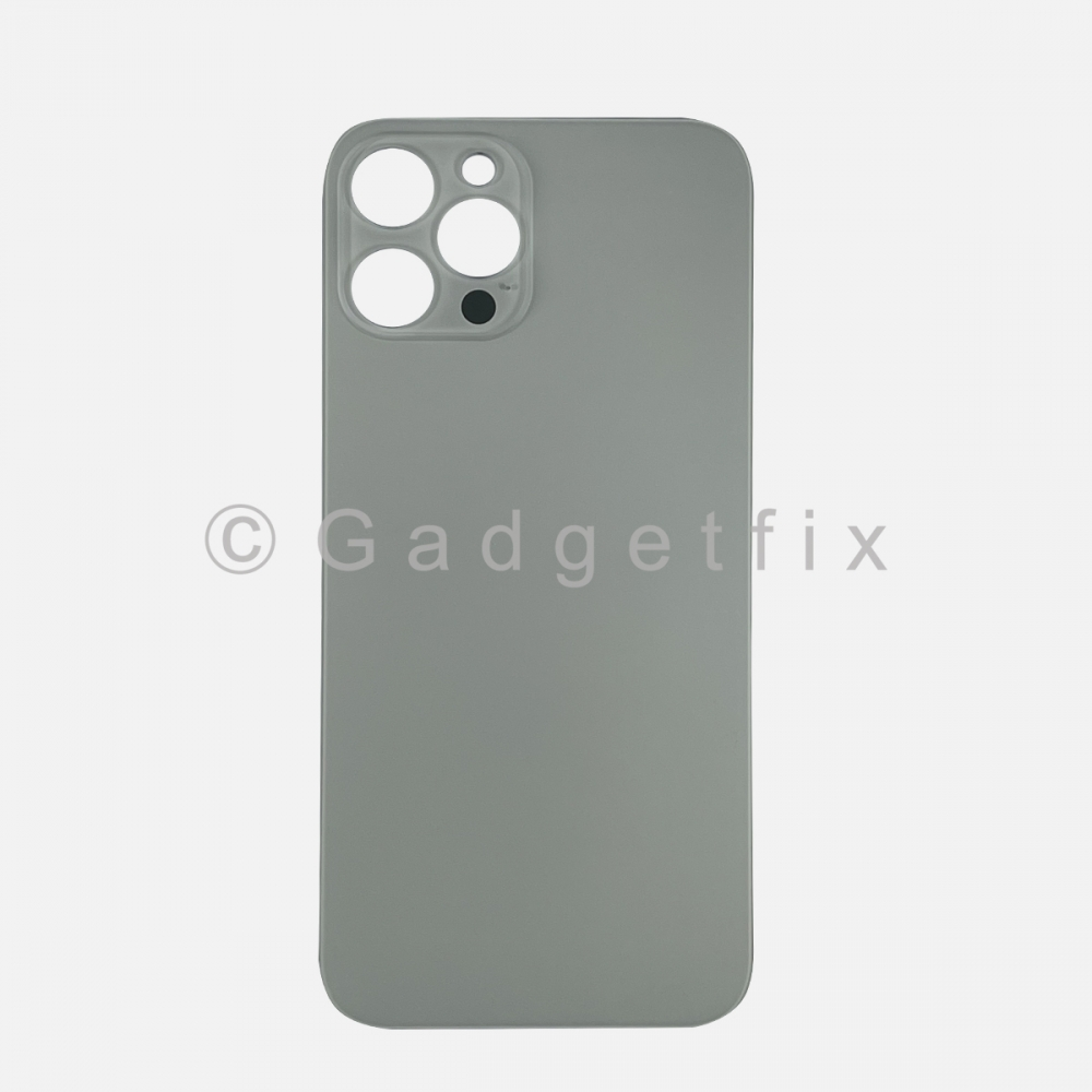 Silver Back Cover Glass for iPhone 12 PRO MAX with Large Camera Hole