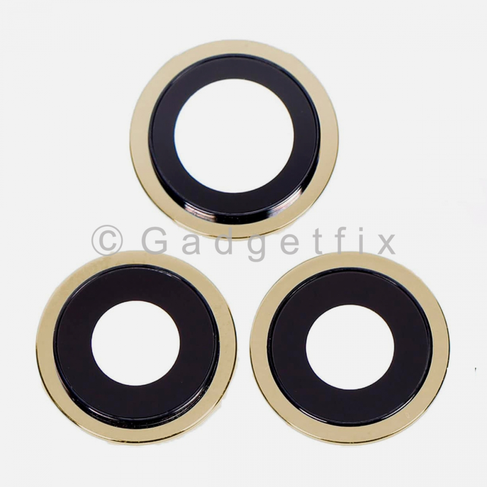Gold Back Camera Lens w/ Bracket For Iphone 12 Pro Max