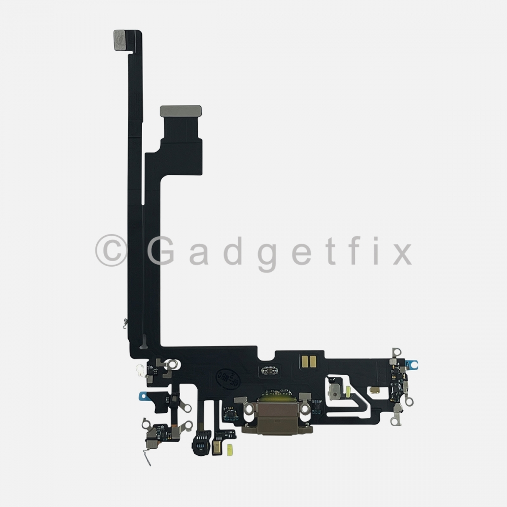 Gold Lightning Charger Charging Port Dock Connector Flex Cable For iPhone 12 PRO MAX
