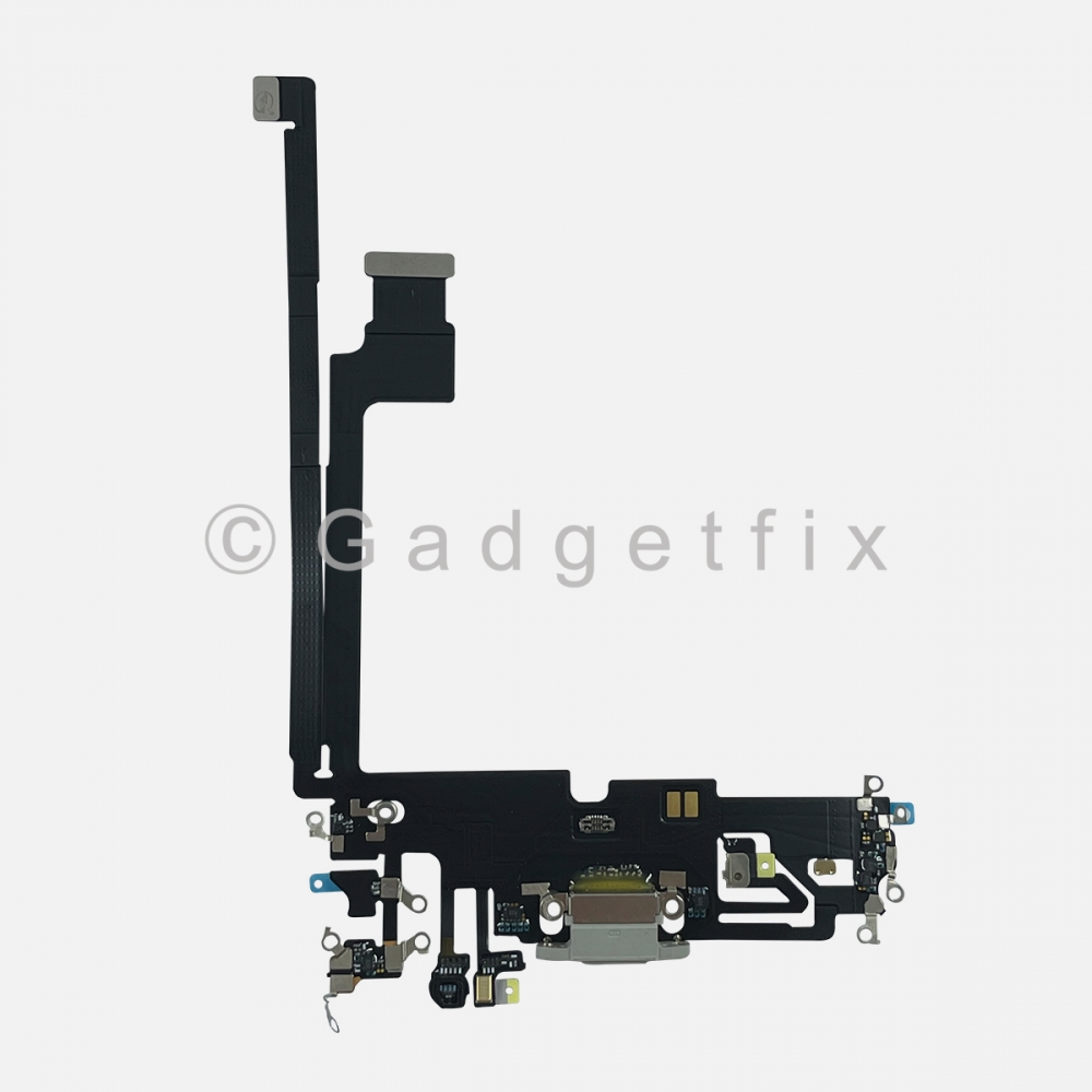 Silver Lightning Charger Charging Port Dock Connector Flex Cable For iPhone 12 PRO MAX
