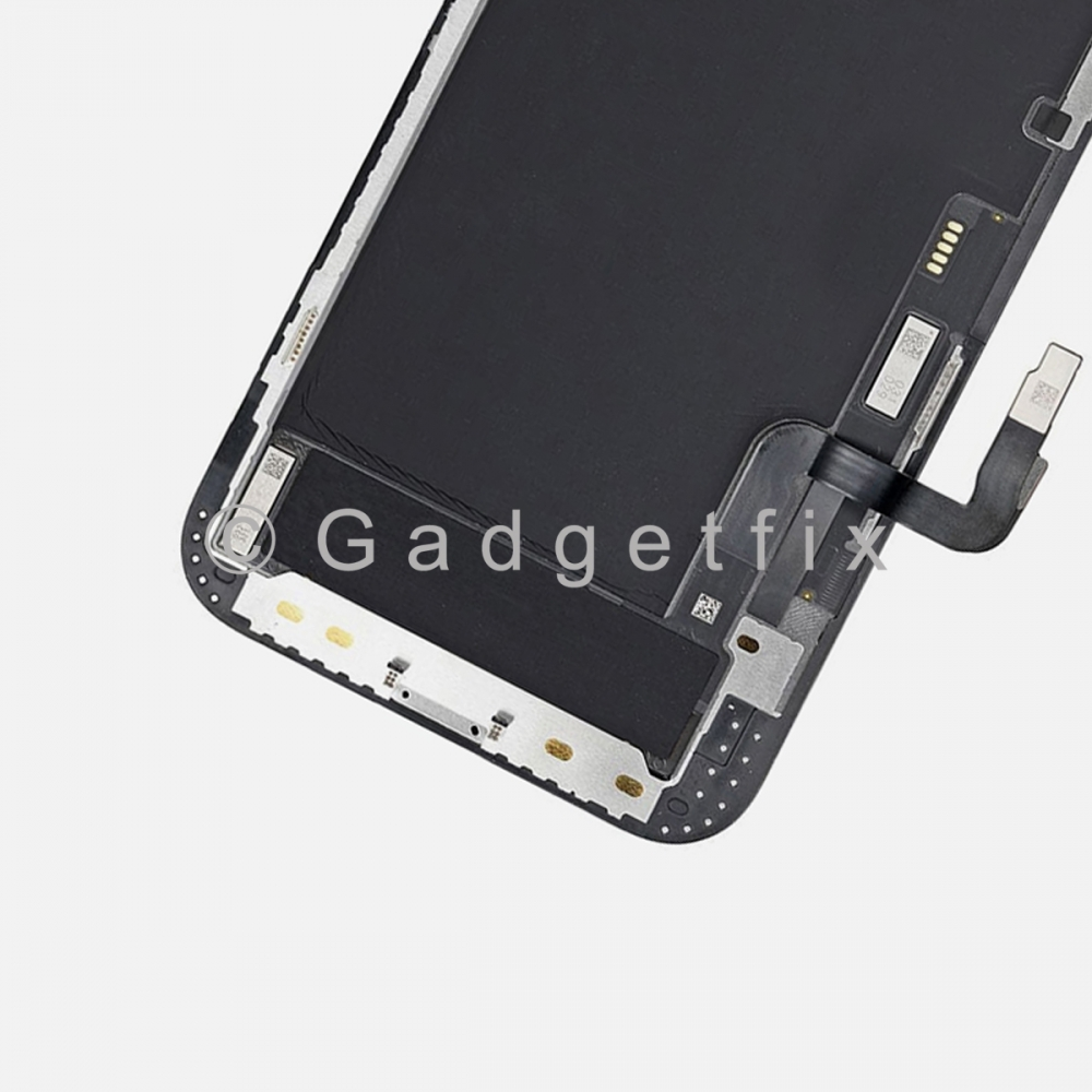 Soft OLED Display LCD Touch Screen Digitizer + Frame For Iphone 12   12 Pro (MX Factory)