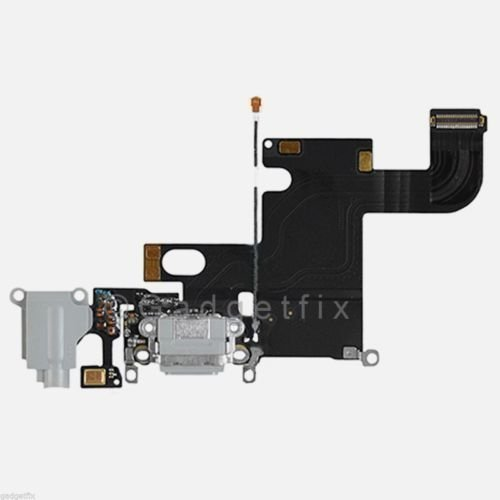 Charging Charger Port Dock Headphone Jack Mic Light Gray Flex Cable for Iphone 6