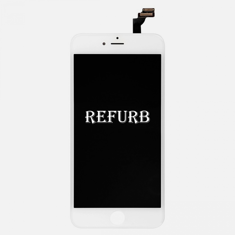 Refurbished White LCD Display Touch Digitizer Screen Assembly for iphone 6 Plus