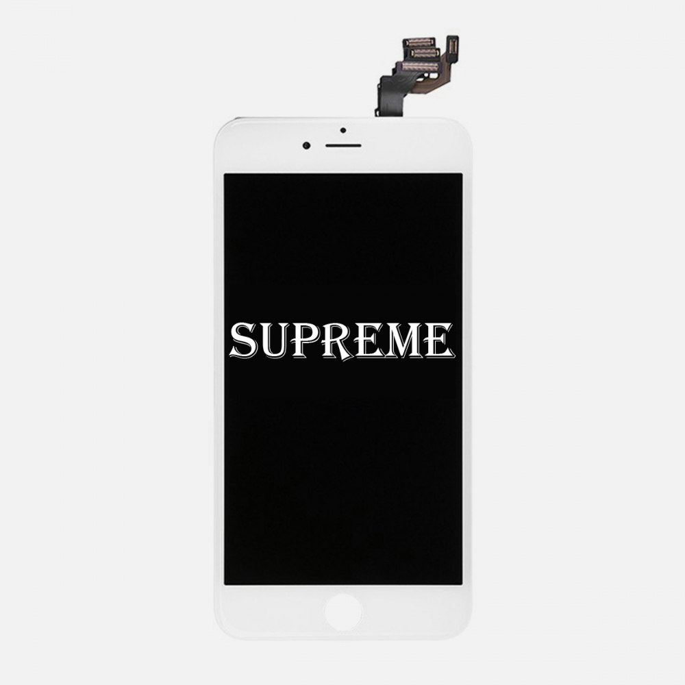 Supreme White LCD Display Touch Digitizer Screen + Steel Plate for iphone 6 Plus