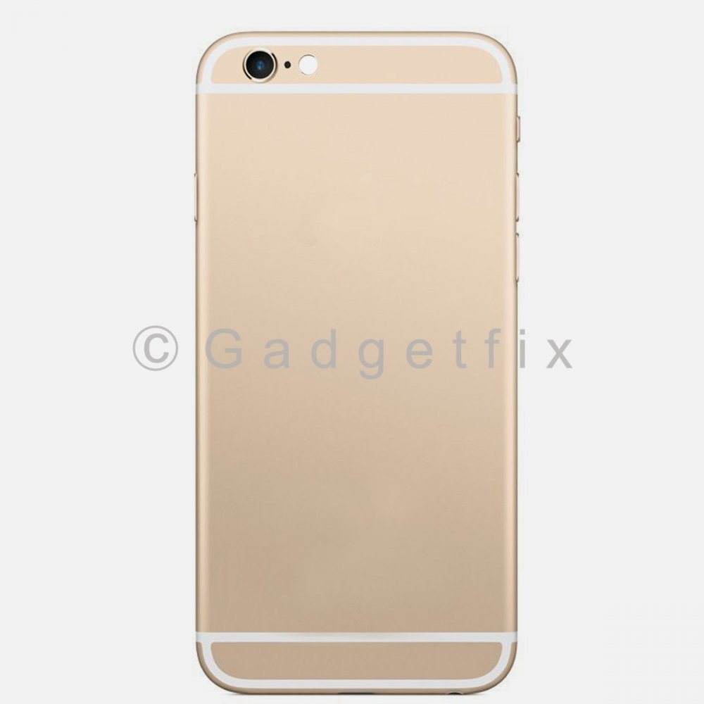 Gold Battery Back Door Cover + Camera Lens + Buttons + Sim Tray For Iphone 6S