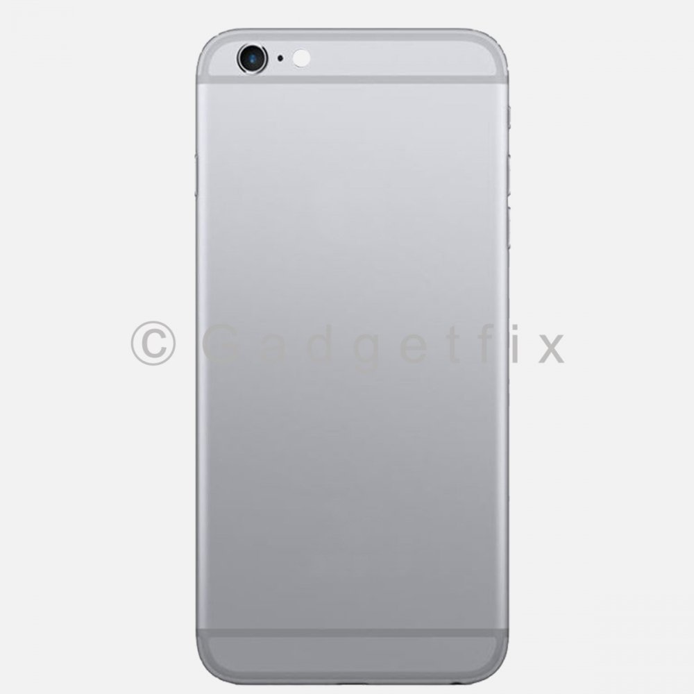 Gray Battery Back Door Cover + Camera Lens + Buttons + Sim Tray For Iphone 6S